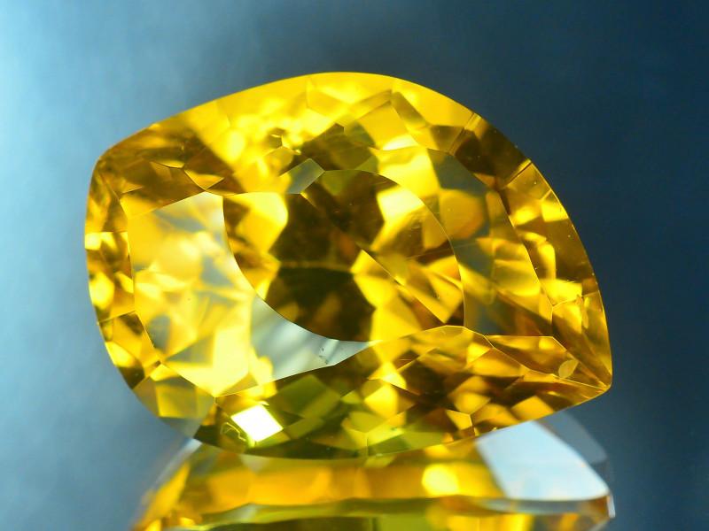 Laser Cut Beryl~7.50 Ct Natural Golden Yellow