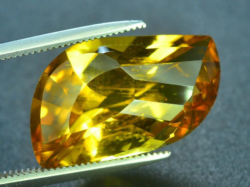 Laser Cut Beryl~7.90 Ct Natural Golden Yellow