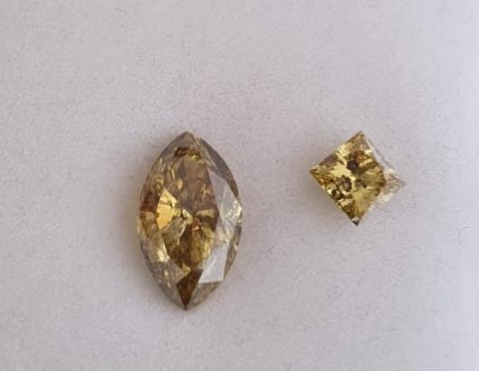 Diamond pair, 3.146ct and 0.652, SSEF certified, top offert!!