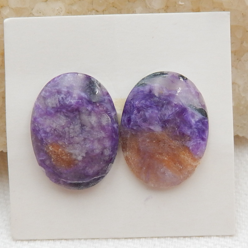 16cts Natural charoite cabochon pair,healing stone G415