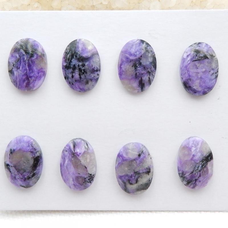 29cts Natural charoite cabochon pair,healing stone G417