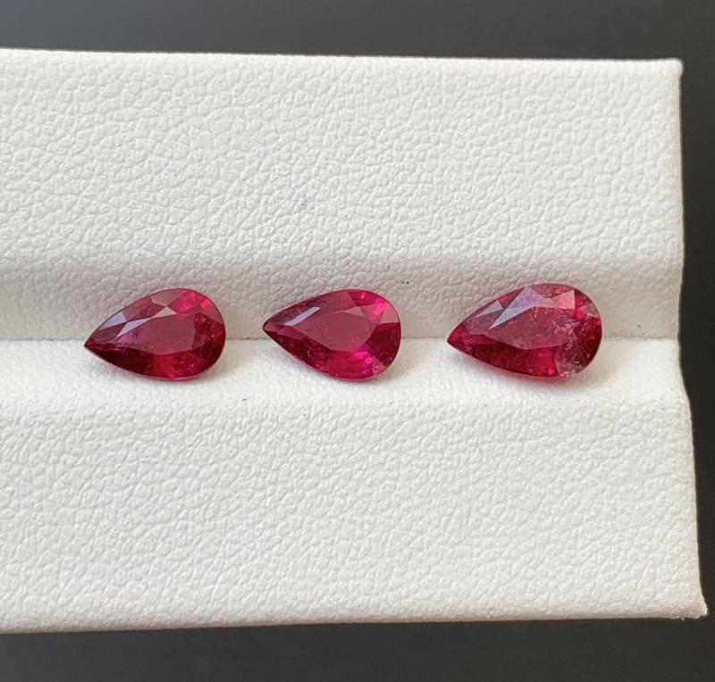 2.85 Carats Natural Rubellite Tourmaline Gemstones
