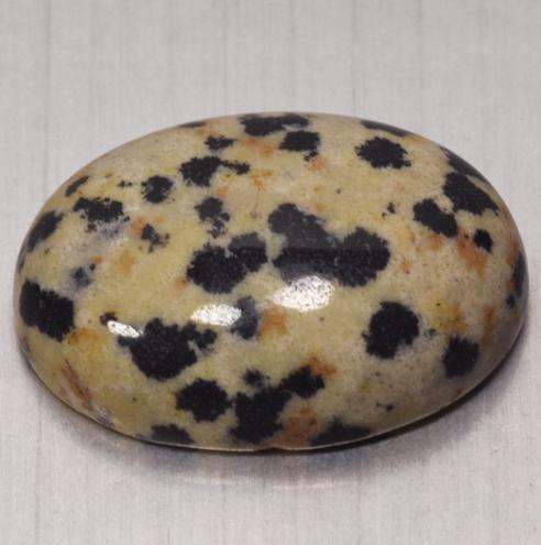 14.20 Cts Untreated Dalmatian Jasper Natural Loose Cabochon