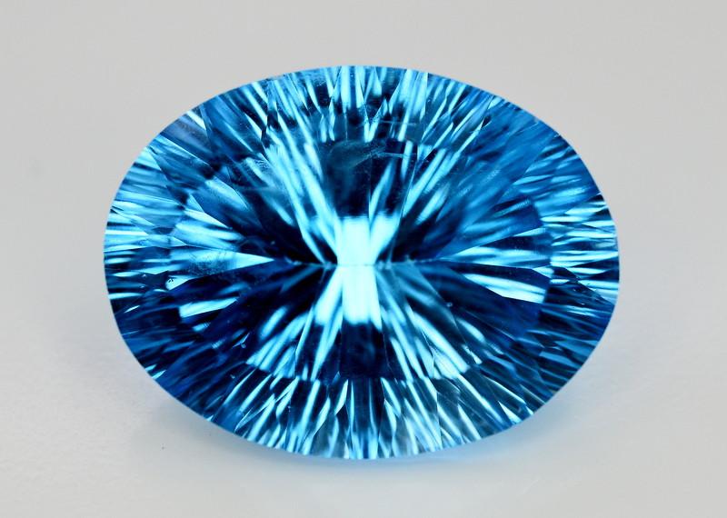 Amazing Laser Cut 42.30 Ct Natural Swiss Blue Color Topaz