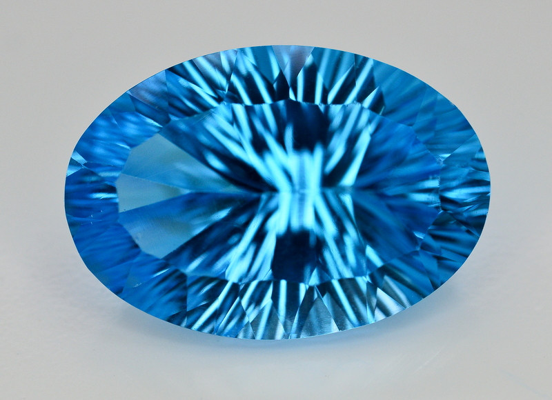 Amazing Laser Cut 39.50 Ct Natural Swiss Blue Color Topaz