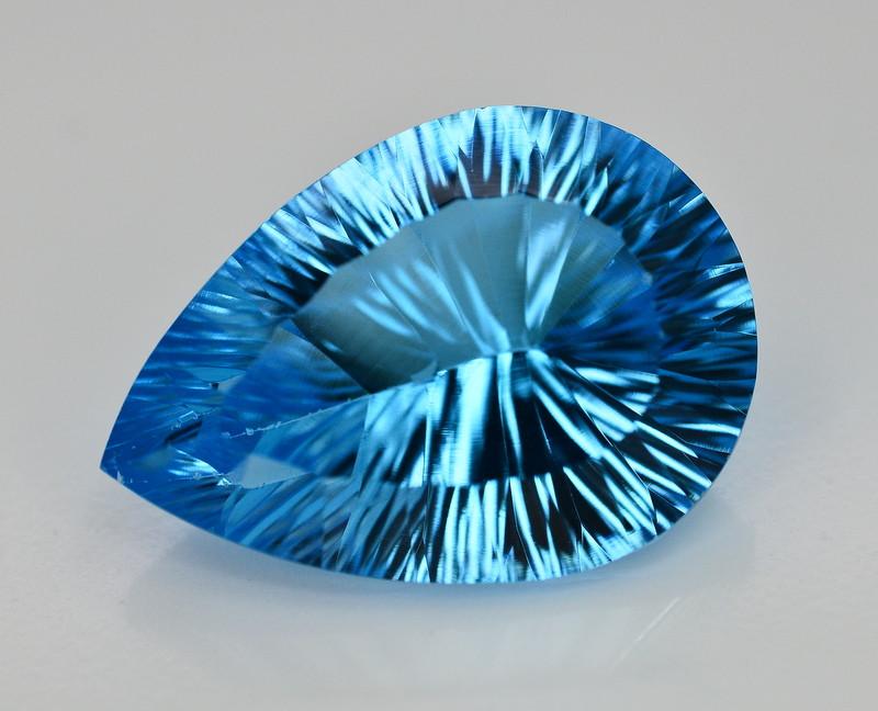 Amazing Laser Cut 23.74 Ct Natural Swiss Blue Color Topaz