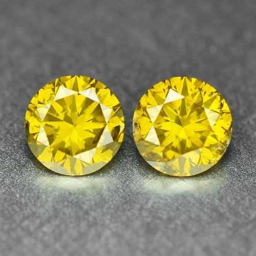 0.48 Cts Sparkling Rare Fancy Vivid Yellow Color Natural Loose Diamond