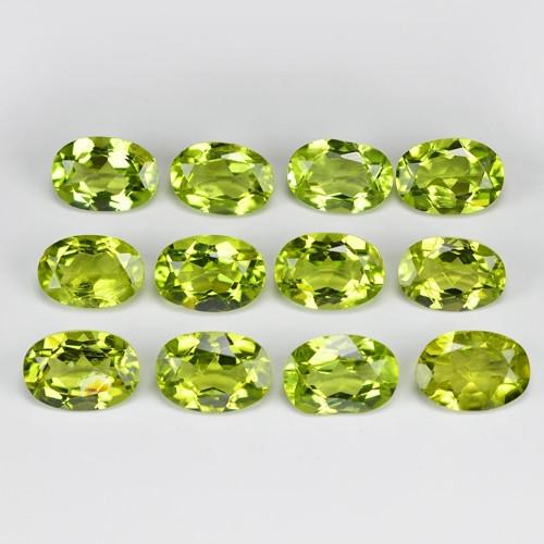 10.02 Cts 12 pcs  Oval 7x5mm Natural Green BURMA Peridot Gemstone