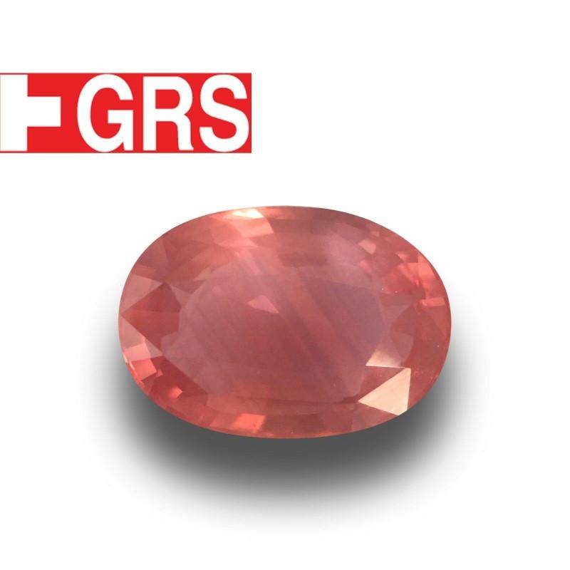 3.56 Carats GRS Natural Padparadscha  Loose Gemstone  Sri Lanka - New