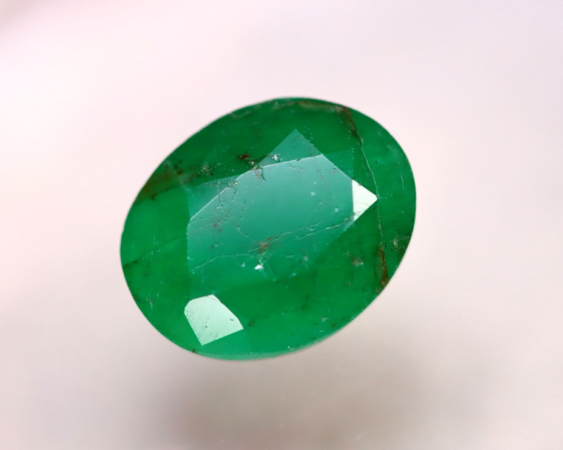 Emerald 7.13Ct Natural Colombia Green Emerald DR158/A38