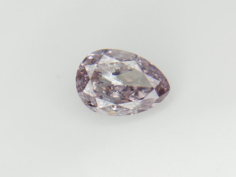 Rarest Color Diamond , Pink overtone Pear Brilliant cut Diamond , 0.52 cts