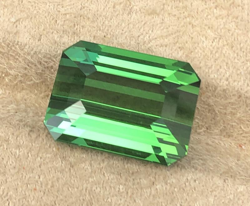 Green tourmaline.  17.21 carats. Spectacular color.