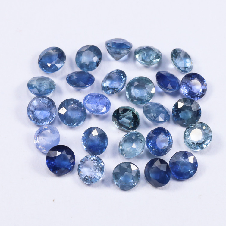5.1tcw Natural Blue 3.3mm Round Ceylon Sapphire Parcel