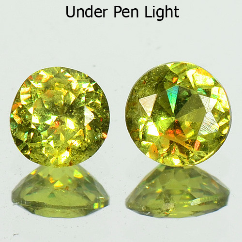 0.28 Cts Untreated Color Changing Natural Demantoid Garnet Pair