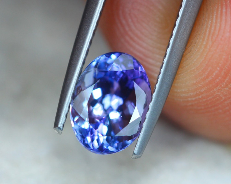 2.20Ct Natural Violet Blue Tanzanite Oval Cut Lot Z571