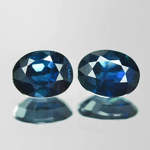 0.74 Cts 2 Pcs Amazing Rare Natural Fancy Blue Sapphire Loose Gemstones