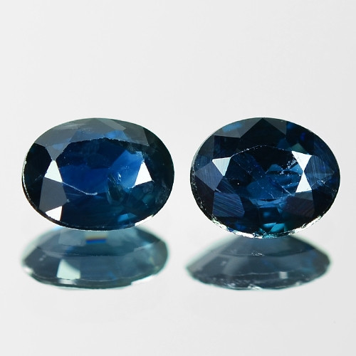 1.15 Cts 2pcs Natural Fancy Blue Sapphire Loose Gemstone