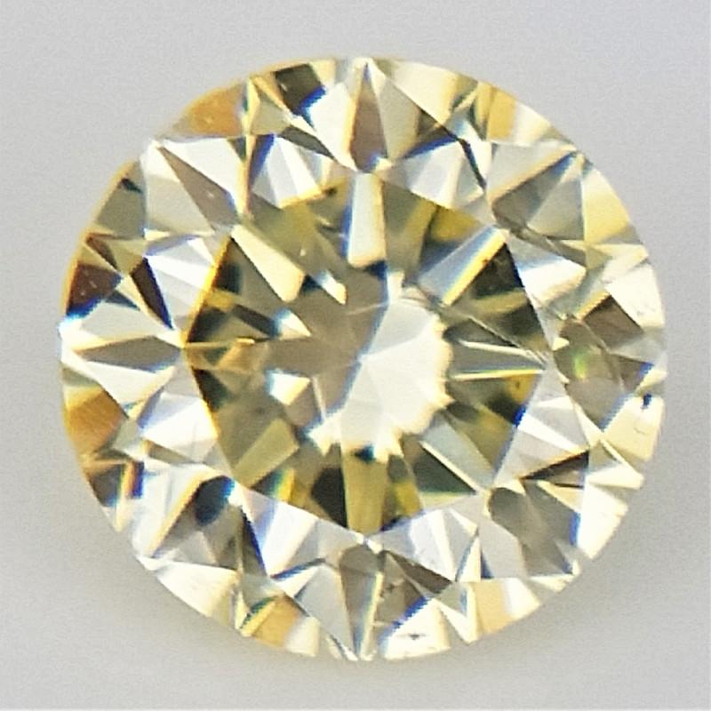 0.11 ct , Natural Round Diamond , Yellow Diamond , WR1319