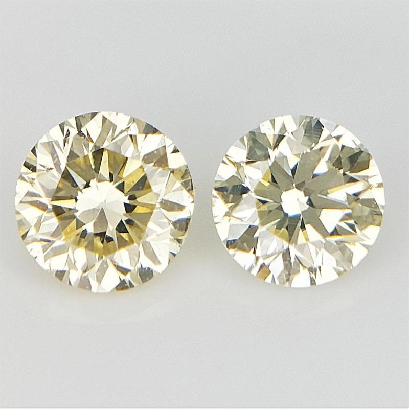 Yellow Natural Diamonds , Diamonds For Jewelry , 2 pcs/0.27 cts