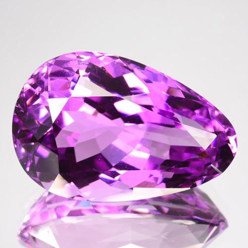 25.00 Cts Natural Hot Pink Kunzite Pear (Drop) Cut Afghanistan