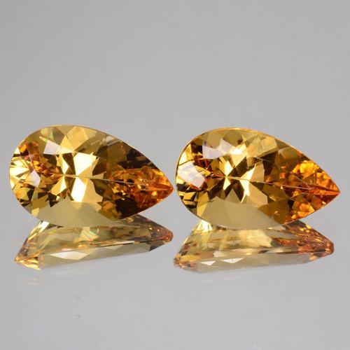 Topaz gemstone pair