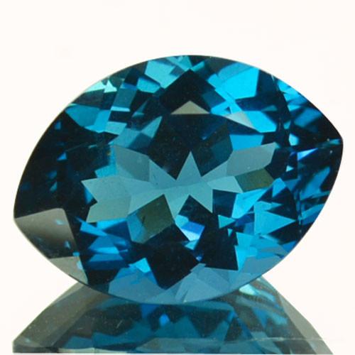 8.18 Cts Beautiful Natural London Blue Topaz Marquise Cut Brazil