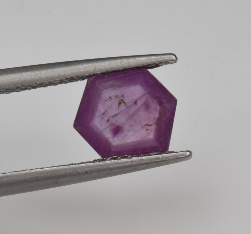 Natural Ruby 1.78 Cts with Hexagonal Pattern from Guinea