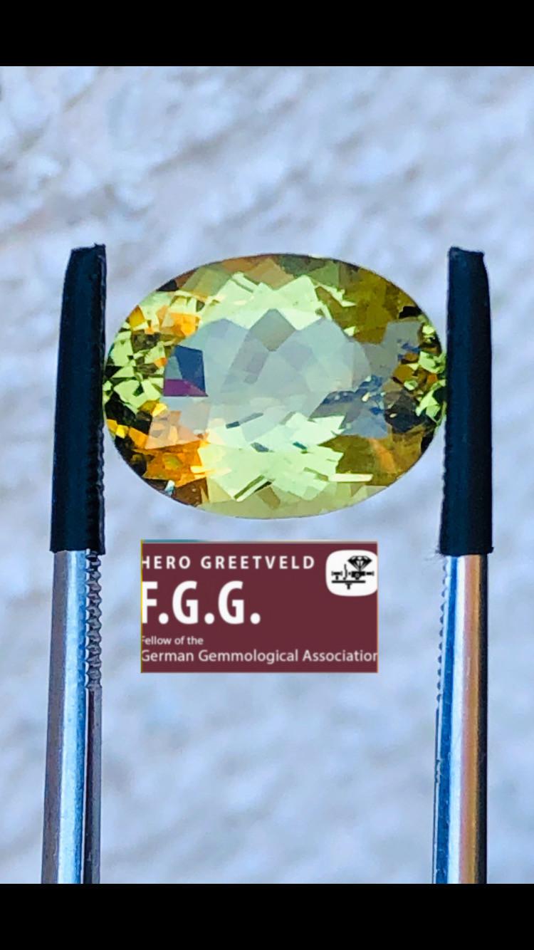 5.19CT  HELIODOR BERYL GOLD COLOR