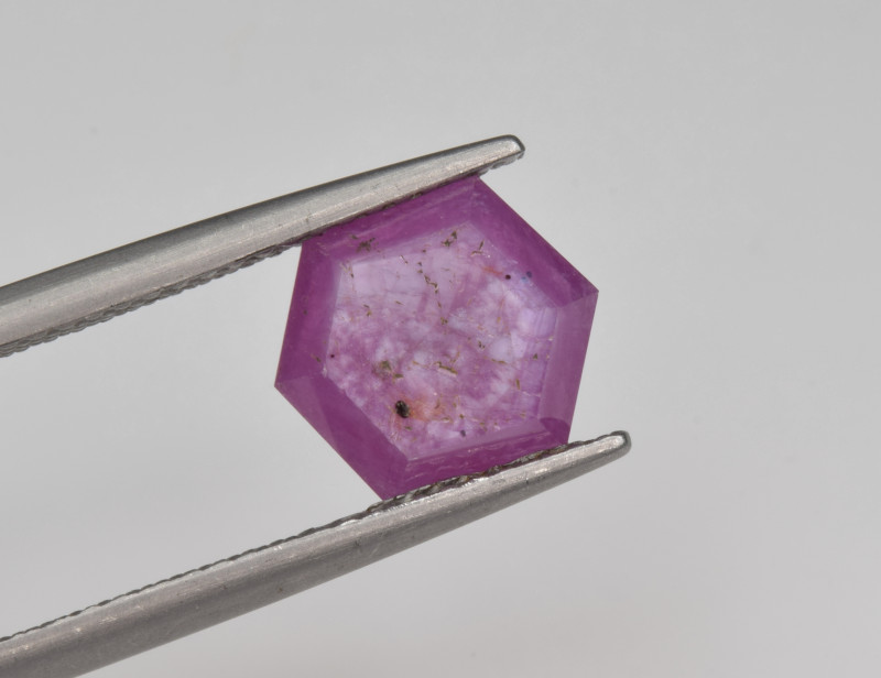 Natural Ruby 2.47 Cts with Hexagonal Pattern from Guinea