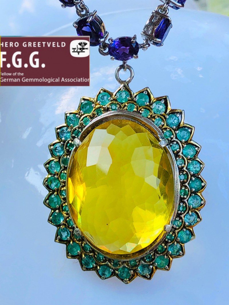 244.7 ct Emerald, Amber, Amethyst - UNIQUE