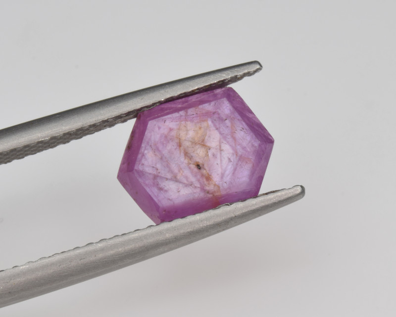 Natural Ruby 2.67 Cts with Hexagonal Pattern from Guinea