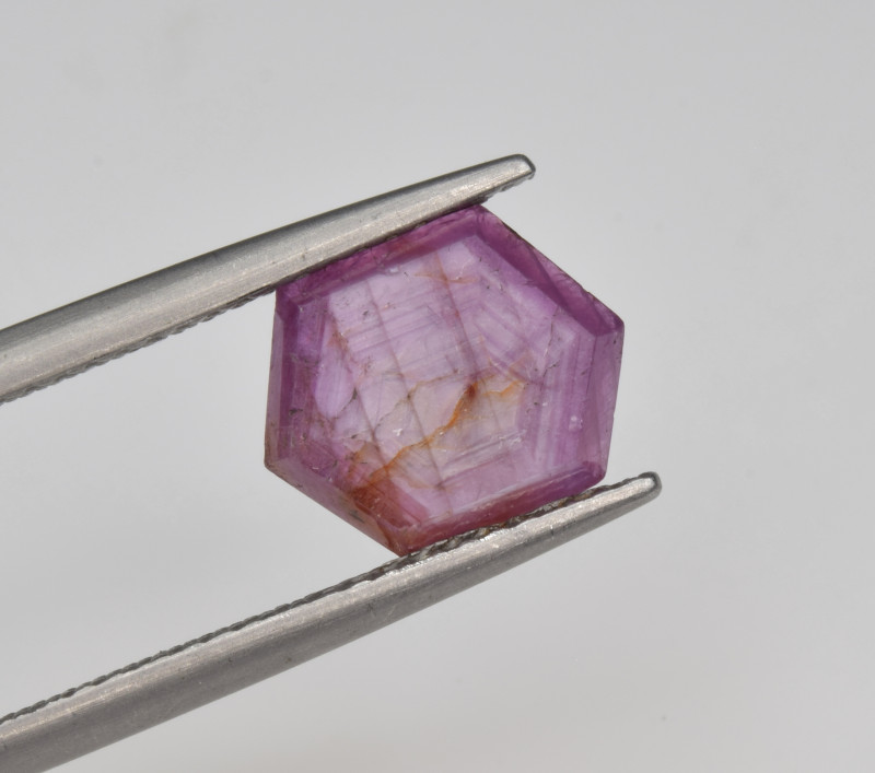 Natural Ruby 2.74 Cts with Hexagonal Pattern from Guinea
