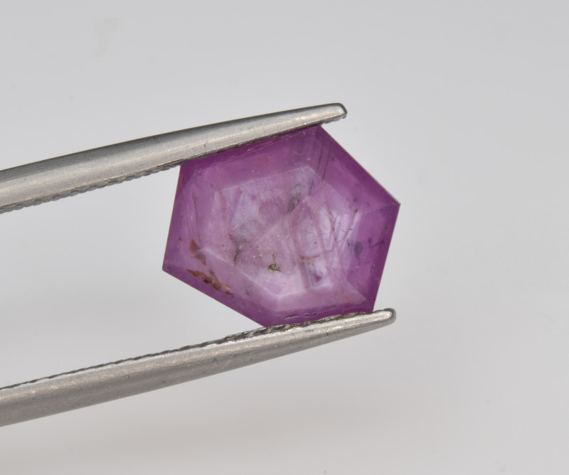 Natural Ruby 3.11 Cts with Hexagonal Pattern from Guinea