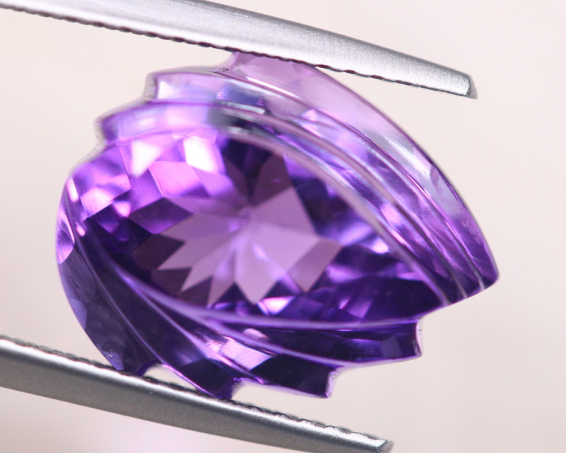 7.04Ct Natural Purple Amethyst Fancy Cut Lot LZ6576