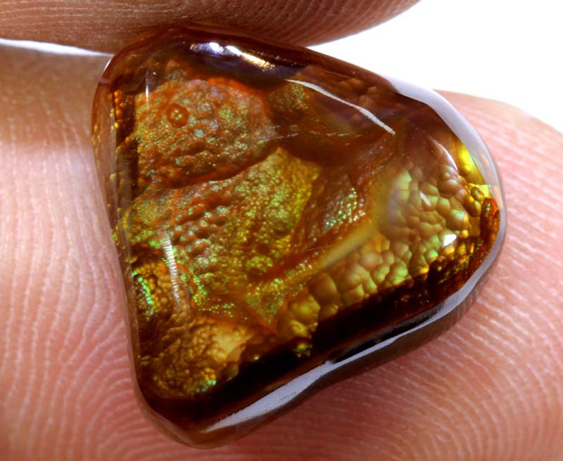 Mexican Fire Agate Stone Polished 10cts D-79