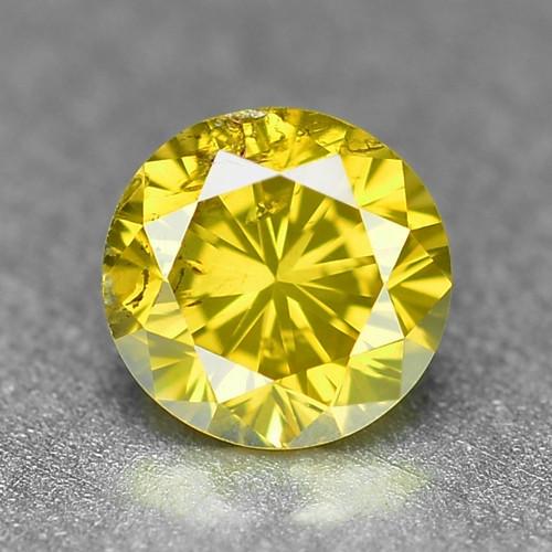 0.29 Cts Sparkling Rare Fancy Vivid Yellow Color Natural Loose Diamond