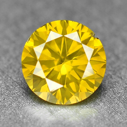 0.27 Cts Sparkling Rare Fancy Vivid Yellow Color Natural Loose Diamond