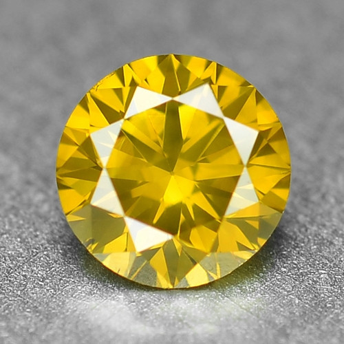 0.26 Cts Sparkling Rare Fancy Vivid Yellow Color Natural Loose Diamond