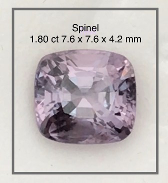 1.80 ct Luminous Lilac Grey  Spinel,  - Myanmar Ref4 G320