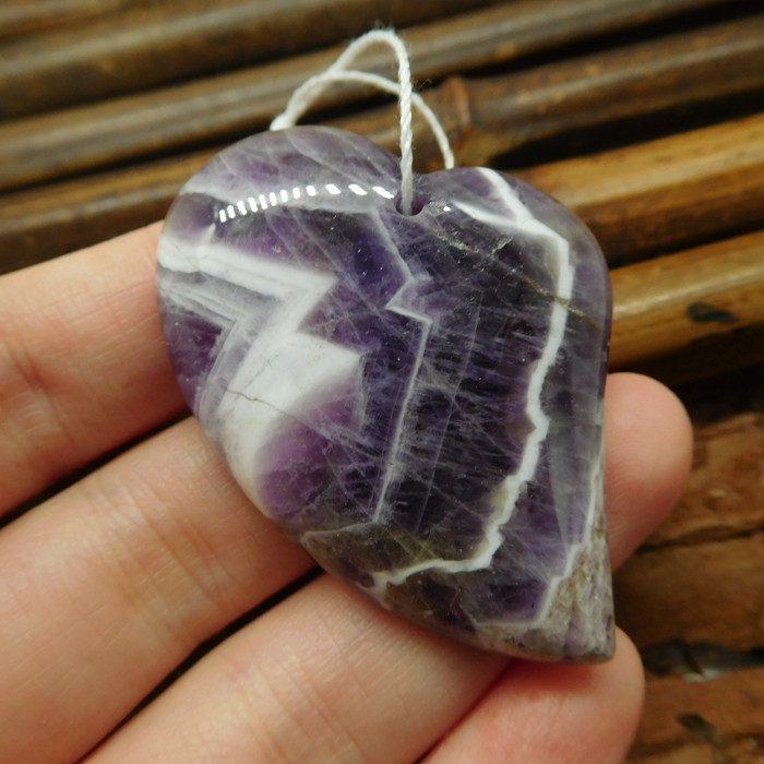 Gemstone purple crystal amethyst pendant (G2083)
