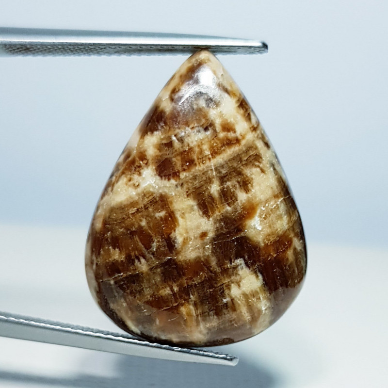 17.75 ct Natural Aragonite Pear Cabochon  Gemstone