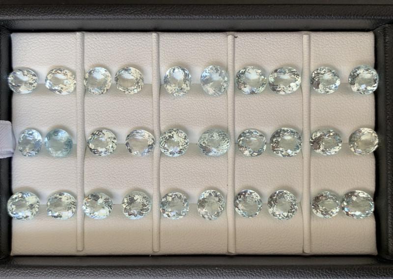 44.40 Carats Aquamarine Gemstones Parcel