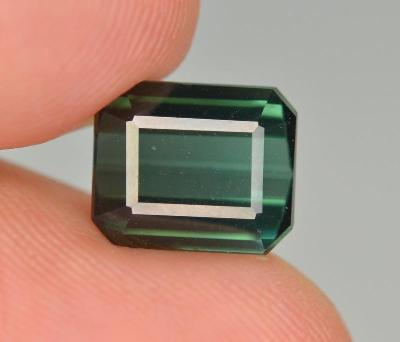 3.55 Carat Natural Green Blue Tourmaline Gemstone