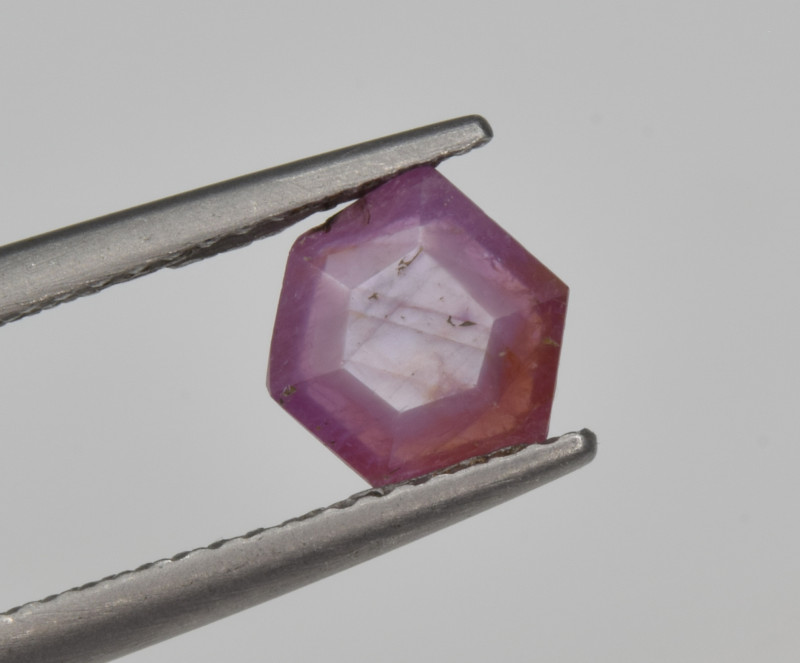 Natural Ruby 1.13 Cts with Hexagonal Pattern from Guinea