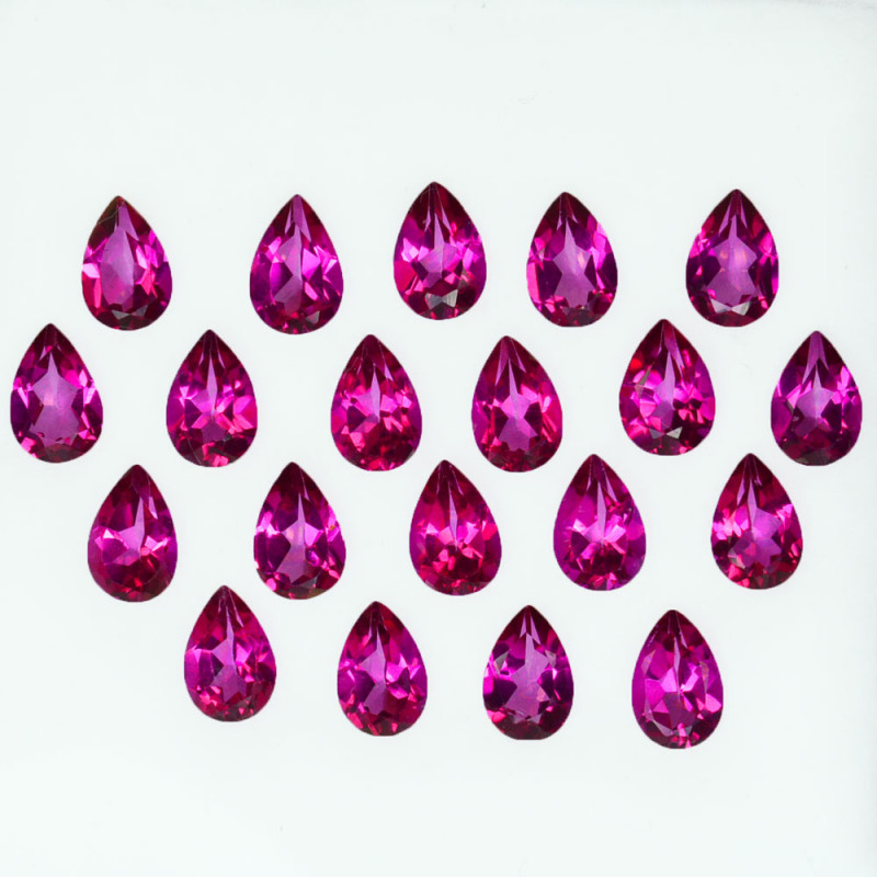 9.53 Cts Candy Pink Natural Topaz 6x4mm Pear Cut 20 Pcs Brazil