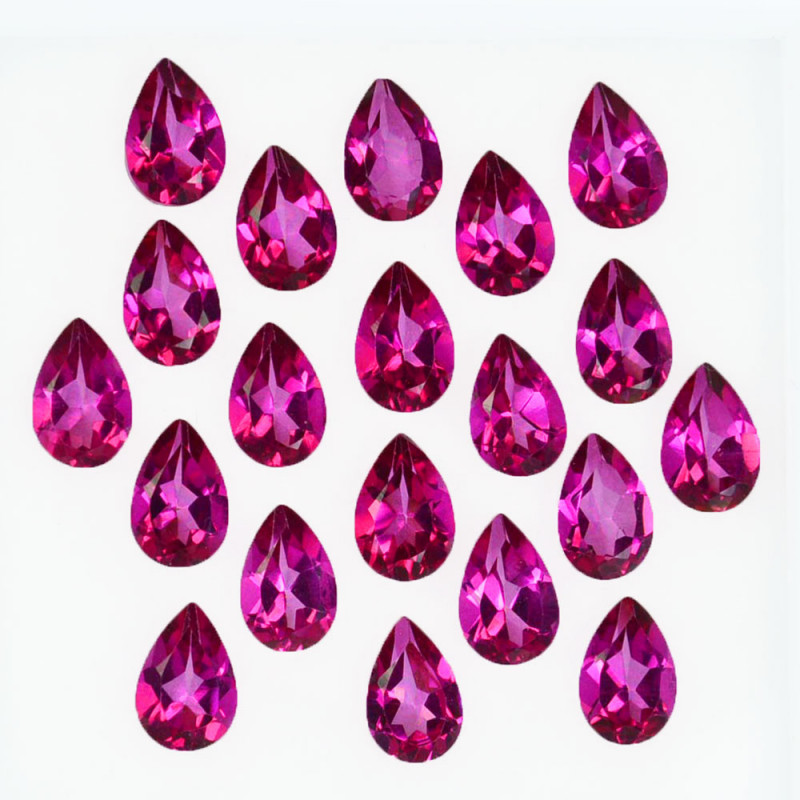 9.74 Cts Candy Pink Natural Topaz 6x4mm Pear Cut 20 Pcs Brazil