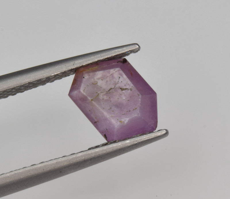 Natural Ruby 1.69 Cts with Hexagonal Pattern from Guinea
