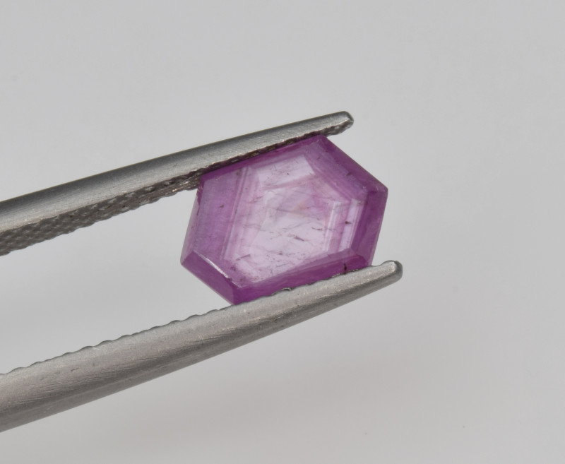 Natural Ruby 1.95 Cts with Hexagonal Pattern from Guinea