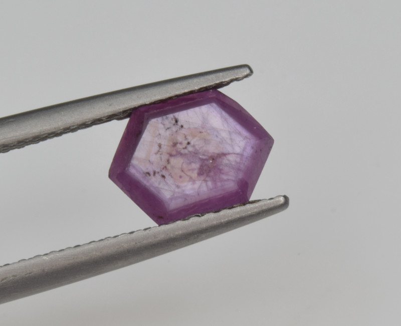 Natural Ruby 1.99 Cts with Hexagonal Pattern from Guinea