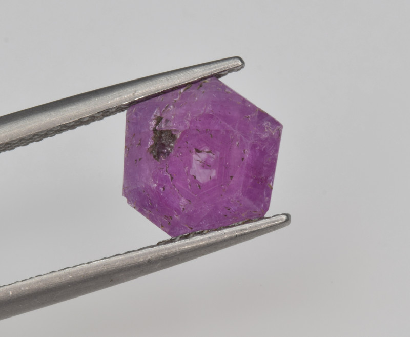 Natural Ruby 2.08 Cts with Hexagonal Pattern from Guinea